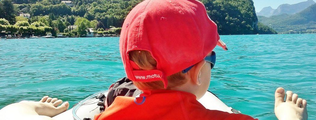 Ma premiere sortie canoe sur le lac d'Annecy